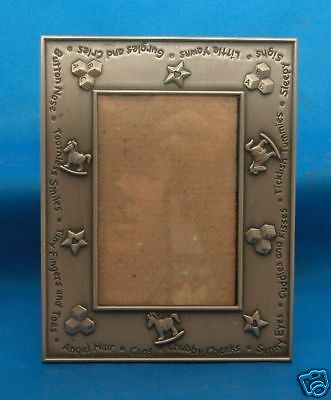 Baby Picture Frame for Nursery Office Home Decor Metal