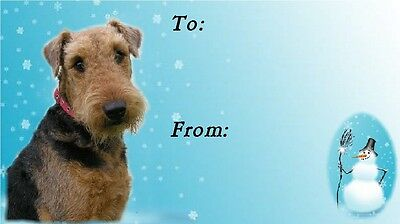 Airedale Terrier Christmas Labels by Starprint