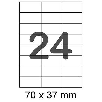 240 Etiketten 70x37mm für Internetmarke Post Briefmarke Frankierung 3474 4464 A4