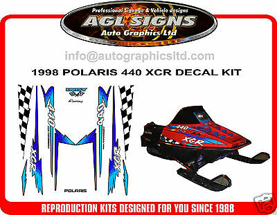 1998 POLARIS INDY XCR 440 HOOD DECALS, reproduction