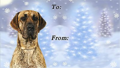 Great Dane Christmas Labels by Starprint - No 3