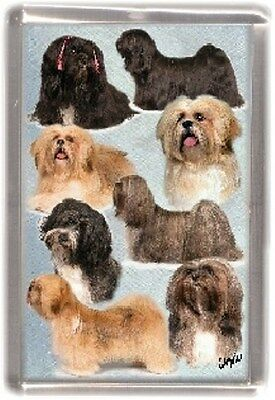 Lhasa Apso Fridge Magnet No 1 by Starprint