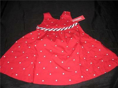 NWT Gymboree Girls ALL AMERICAN 2T Red DRESS 4th of July Stars Patriotic USA