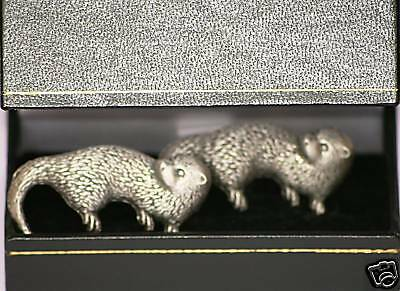 Otter Pewter Cufflinks  Made in UK in Gift Boxed NEW