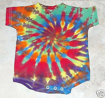Tie dye dyed 12 M hippie baby one piece creeper 12M