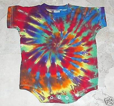 Tie dye dyed hippie baby 18 M one piece creeper 18M