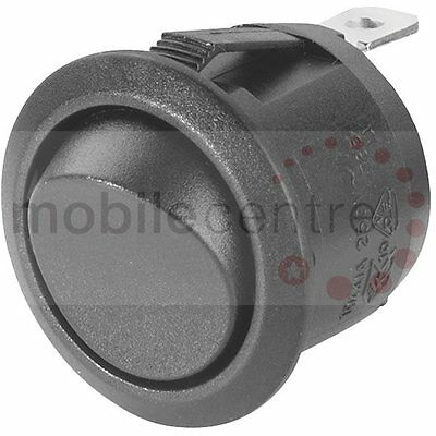 Round rocker switch momentary OFF (ON) 20 mm hole black
