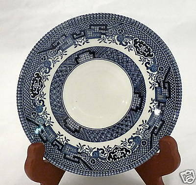 "Blue Willow 5.5"" Saucer Made in England Churchill Lion"