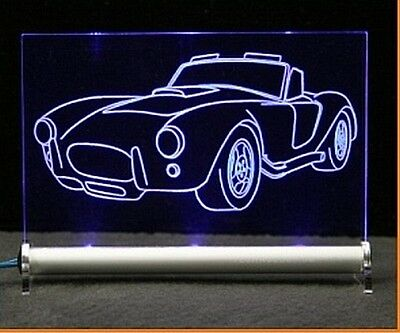Shelby Cobra Gravur LED Schlid