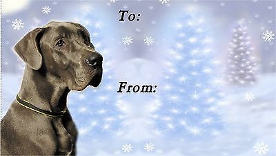 Great Dane Christmas Labels by Starprint - No 5