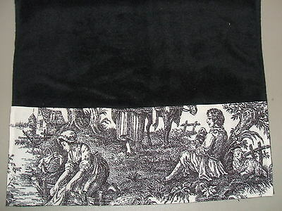 Waverly Red Cream Ivory French Country Rustic Life Toile Fingertip Guest Towels