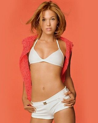 MANDY MOORE 8x10 PICTURE SEXY WHITE SHORTS & TOP PHOTO