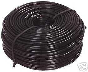 4 Core Flat Black Phone Telephone Cable/Flex/Wire Length 30 Mtrs