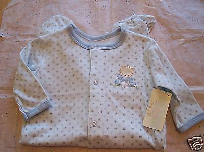 89371dec3 RENE ROFE ONE Piece FOOTSIE Baby Outfit 0~3 Months BLUE - $12.99 ...