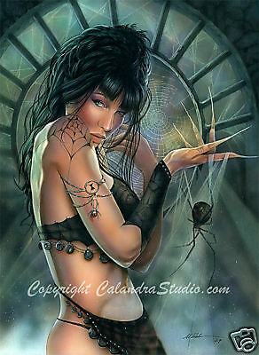 Calandra Art - Black Widow! Signed 16x20 Print