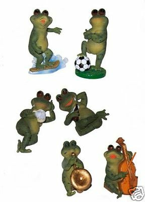 New Frog Set 6 Frogs Playing Musical Instruments Soccer