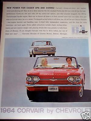 1963 Chevrolet CORVAIR for '64 Vintage Classic Car Ad