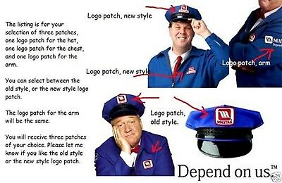 Fancy Dress Halloween Costume Prop: Lonely Maytag Repairman 3-Patch Set