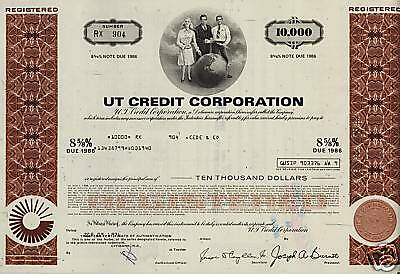 UT CREDIT : UNITED TECHNOLOGIES   Sikorsky  Helicopter old bond certificate