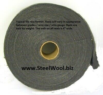 3 ea - 5lb Steel Wool Reel # 00 Very Fine