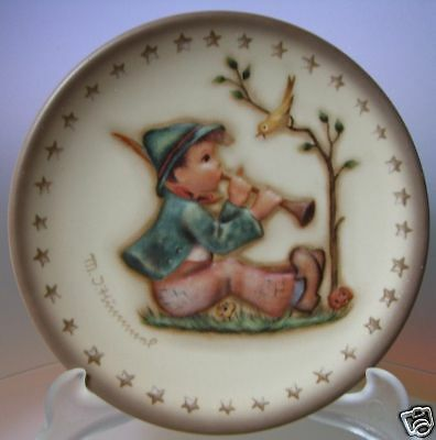 "M.i.hummel ""singing Lesson Mini Plate"" Hum 979 Mib"