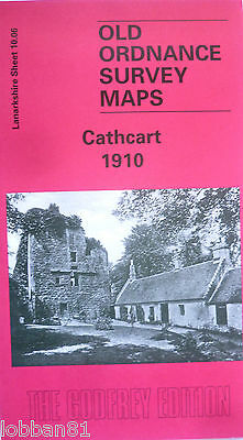 Old Ordnance Survey Detailed Map Cathcart Lanarkshire Scotland 1910 S10.06  New