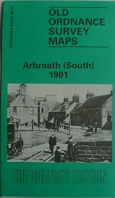 OLD ORDNANCE SURVEY MAP SCOTLAND ARBROATH (NORTH) 1901  Sheet 46.11 Brand New