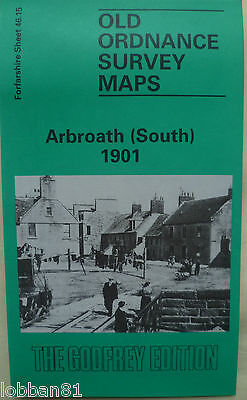 OLD ORDNANCE SURVEY MAP SCOTLAND ARBROATH (SOUTH) 1901 Sheet 46.15 Brand New