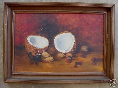 Marie Shaw Antique California Coconut, Old Oil LISTED