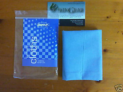 New Shift-It Motorcycle Bike Helmet & Visor Polishing Cleaning Care Cloth x 2
