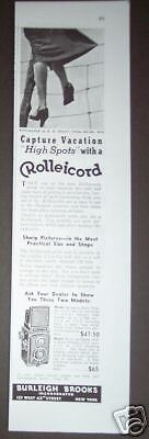 1938 Vintage ROLLEICORD w/ Zeiss Lens CAMERA AD