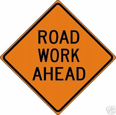 Real Road Work Ahead Street Traffic Sign