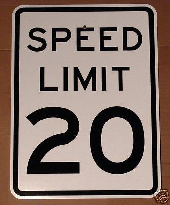 Real Speed Limit 20  Road Street Traffic Sign Signs