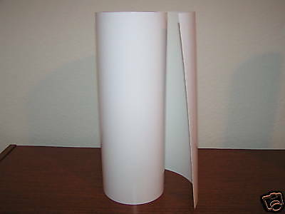 "White Vinyl 12"" Roll Sign Decal Sheet Series 5 High Gloss (window/wall/vehicle)"