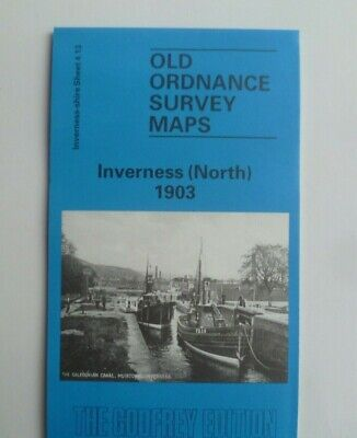 Old Ordnance Survey Detailed Maps Inverness North Scotland  1903 Godfrey Edition