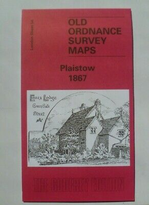 OLD ORDNANCE SURVEY MAP  PLAISTOW LONDON 1867 Sheet 54 New Map