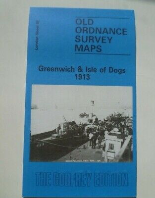 Ordnance Survey Detailed Maps London Greenwich & Isle Dogs 1913  Godfrey Edition