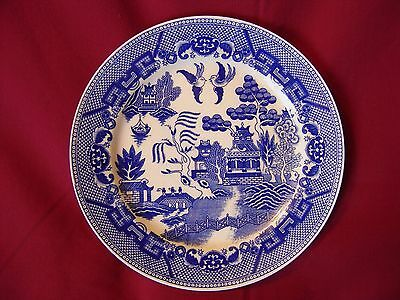BLUE WILLOW PLATE MADE IN JAPAN 9 3/8