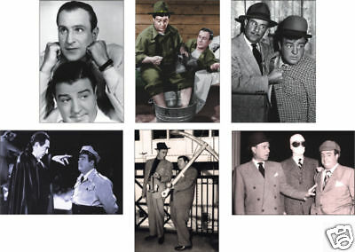 Abbott and Costello 6 card POSTCARD Set