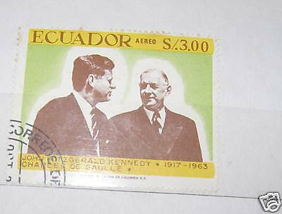 RARE VINTAGE MIXED LOT OF WORLD STAMPS JOHN F. KENNEDY