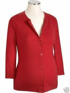 Old Navy Maternity Cashmere Cardigan Sweater XS S L Red
