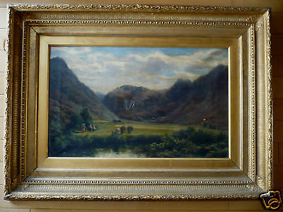 DAVID FARQUHARSON, LISTED, REALISM RARE Scotland Oil Landscape MASTERWORK WOW!!