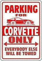 CORVETTE Parking Sign with Graphic 4 MAGNET