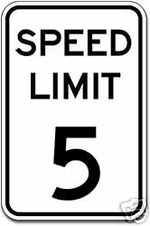 Real Speed Limit 5  Road Street Traffic Sign Signs