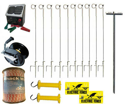 SOLAR Complete STRIP CELL GRAZING Electric Fence System RRP $537.23