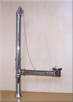 DRAIN KIT for claw foot tub , CHROME FINISH