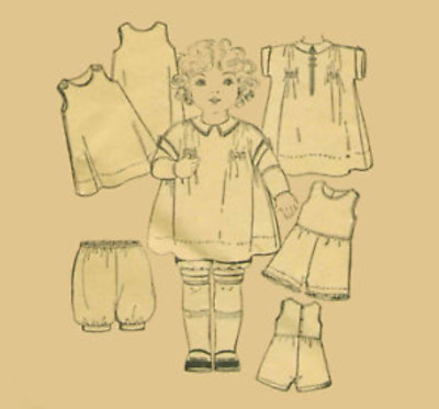 "18"" Antique  Doll Clothing Pattern  #2930"