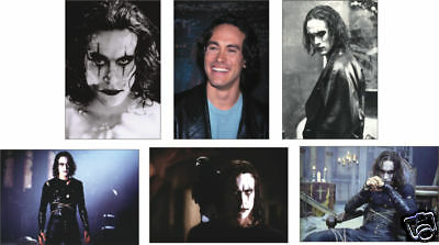 The Crow Brandon Lee 6 Card POSTCARD Set
