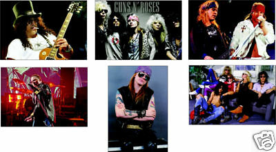 Guns n Roses Axl Rose and 6 Card POSTCARD Set