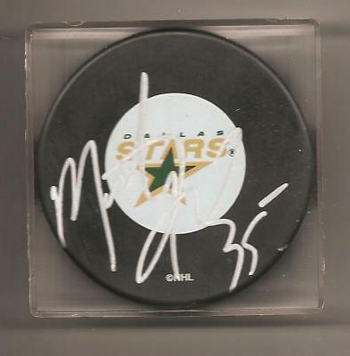 MARTY TURCO SIGNED PUCK DALLAS STARS AUTOGRAPHED AUTO